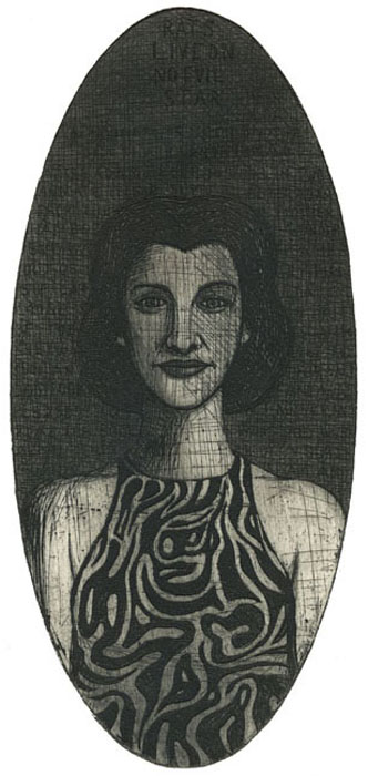 pigprints anne sexton etching by guido pigni